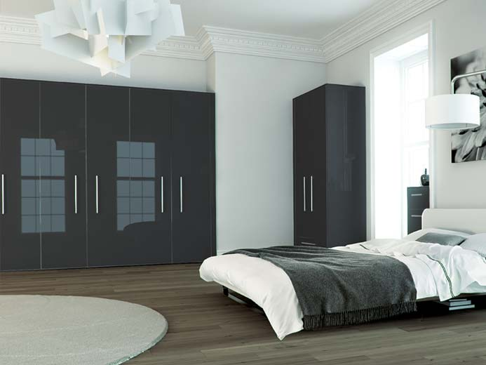 zurfiz metallic anthracite bedroom range